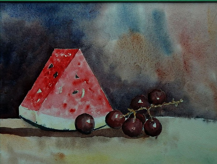 Watermelon and Grapes - Image 0