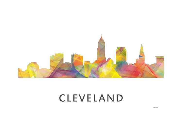 Cleveland Ohio Skyline WB1 -