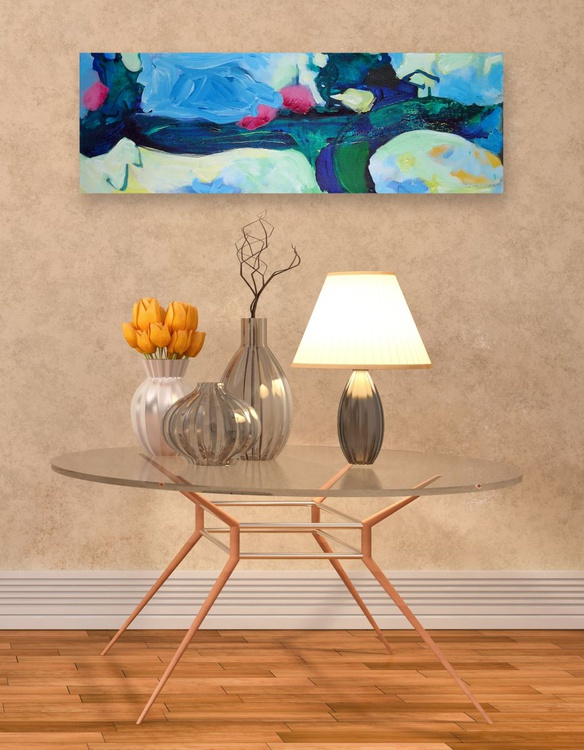 """A Home In The Clouds   30"""" x 10"""" / 76 cm x 25 cm - Image 0"""