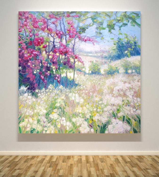 Original Oil Painting - Spring Meadow In Sussex - Image 0