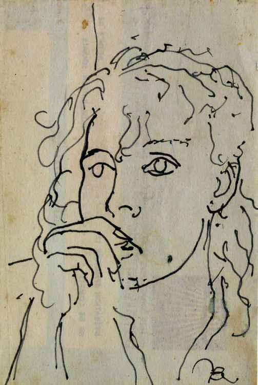 Portrait, life sketch 2, 7x10 cm
