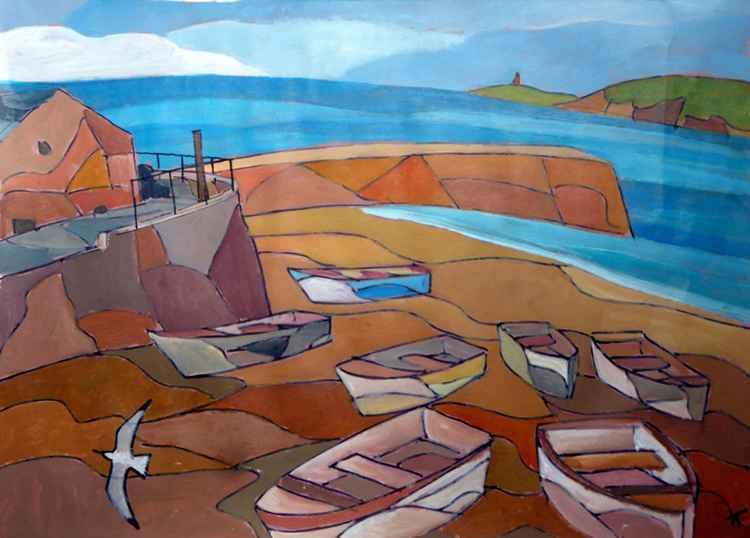Sennen Cove Boats.