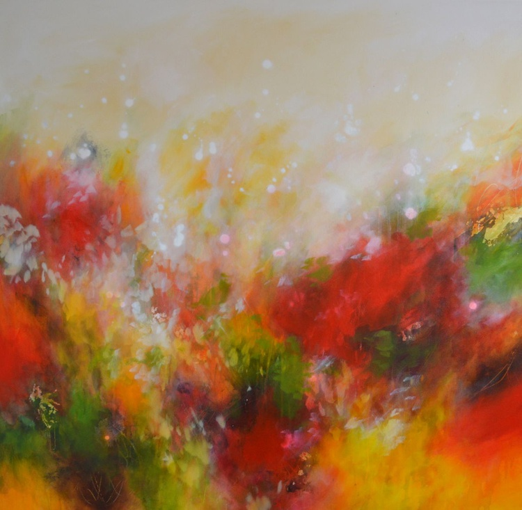 Autumnal Fire - Large Original Abstract Painting - Image 0