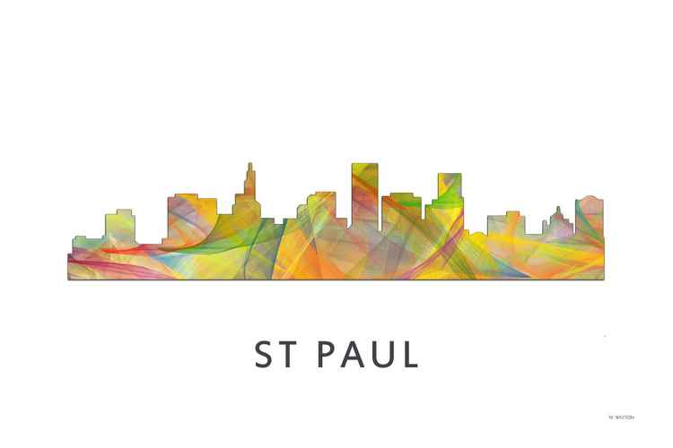 St Paul Minnesota Skyline WB1 -