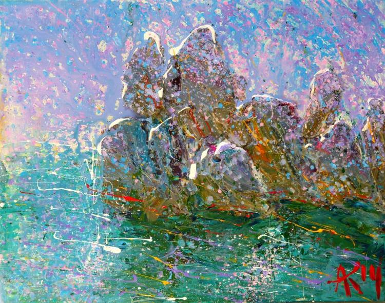 stones. original painting 45x35 cm - Image 0