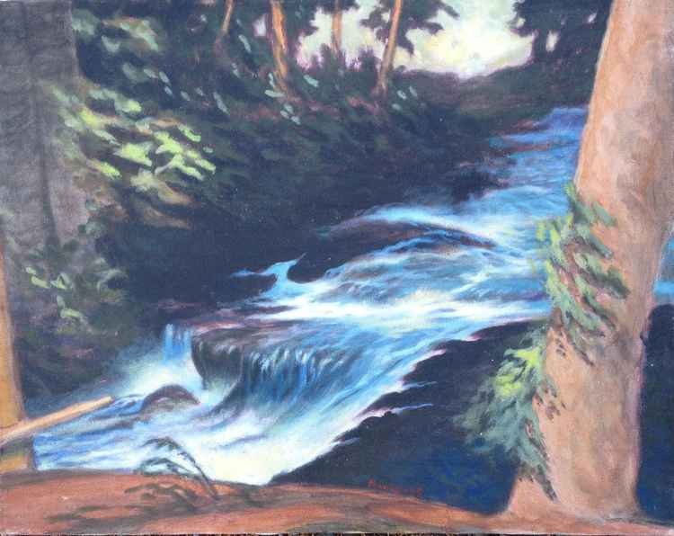 Sahalie Falls Landscape #2