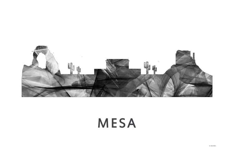 Mesa Arizona Skyline WB BW -