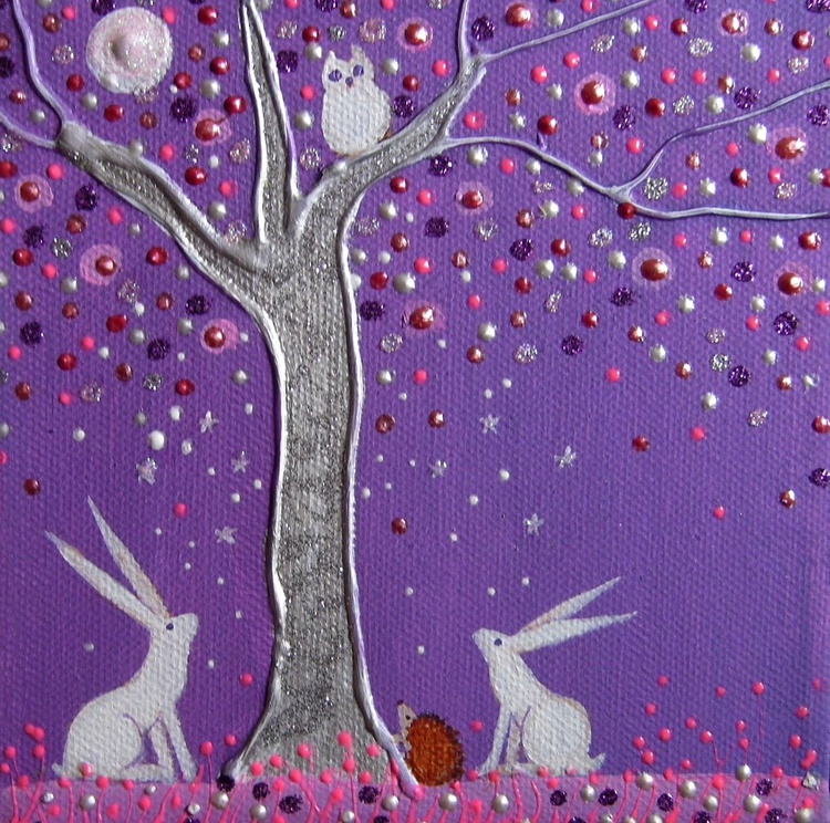 Hares and hedgehog - Image 0