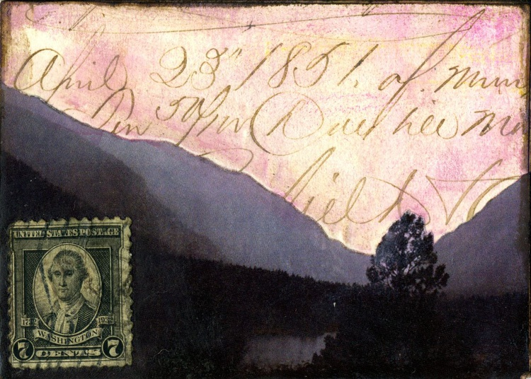 Mountain Range II, Mixed Media Miniature Art - Image 0