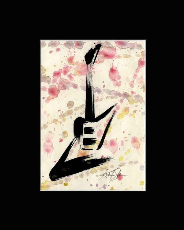 Guitar 6 - Abstract Illustration Painting -