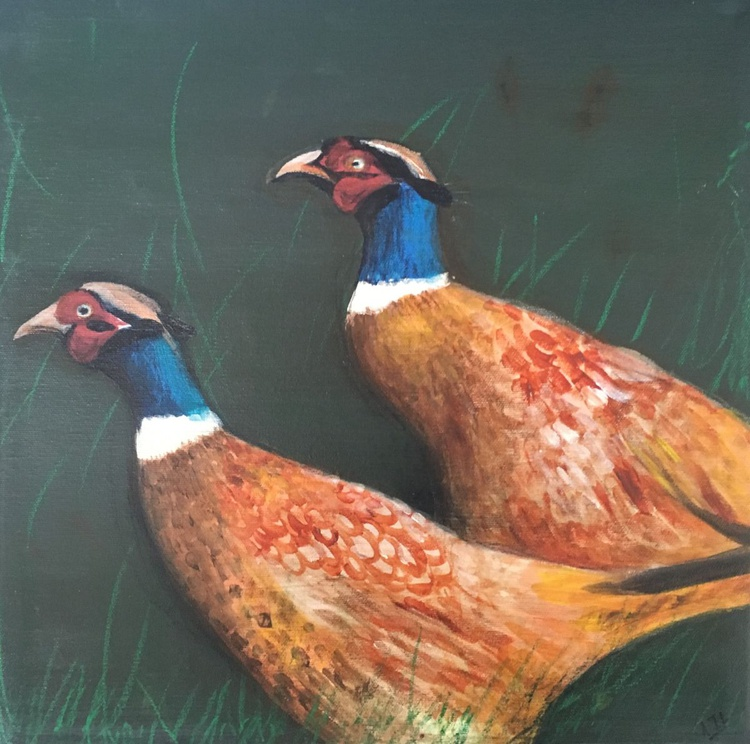 A fine pair of pheasant - Image 0