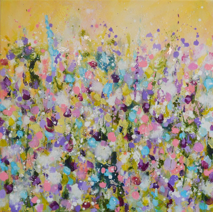 Yellow Meadow II - Original Abstract Floral Painting - Image 0