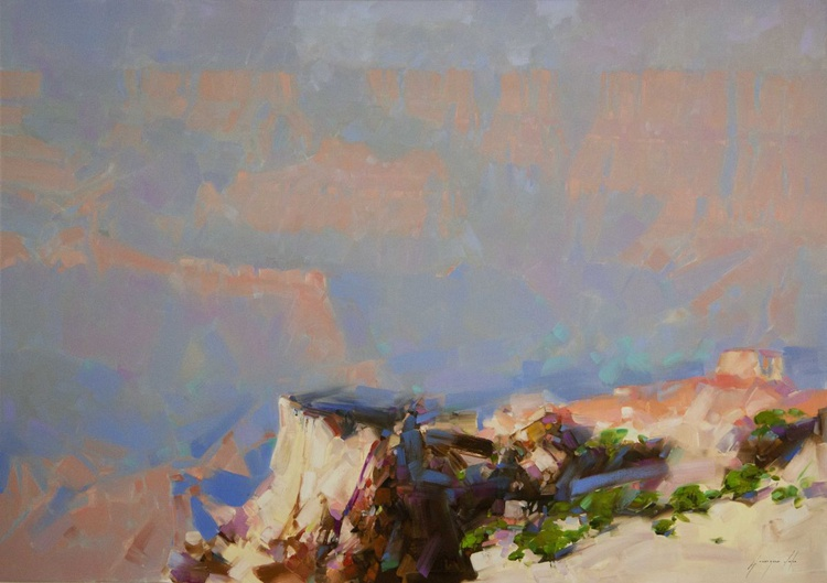 Grand Canyon South West art Handmade oil painting One of a kind Signed Large Size painting - Image 0