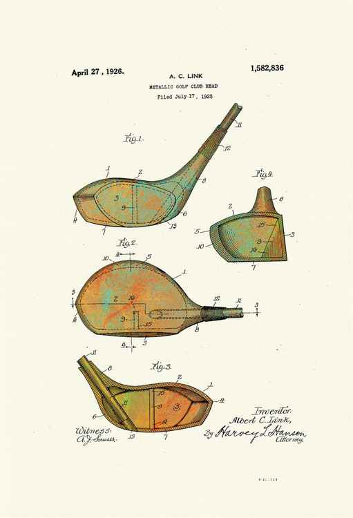 Golf Club Heads - Patented 1926 -