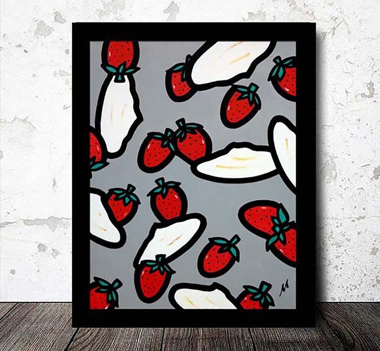 Strawberries & Meringue (Ready Framed) - Image 0