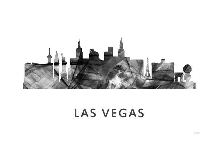 Las Vegas Nevada 2 Skyline WB BW -