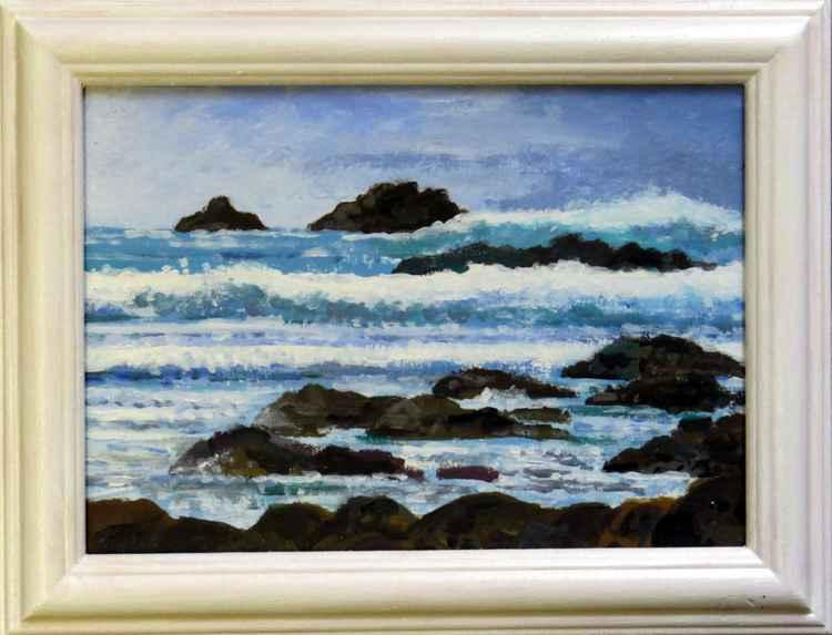 Stormy seas, Priest's Cove,