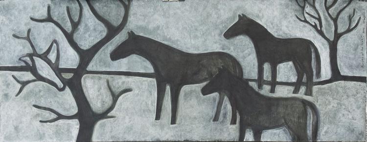 Horses at the tree - Image 0