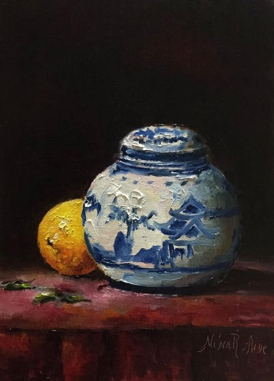 Chinese Vase and Lemon - Image 0