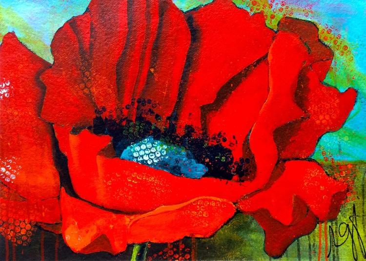 Backyard Poppies I - Image 0