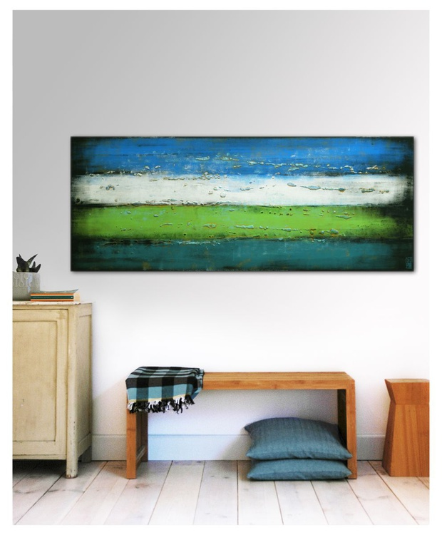 Abstract Painting - Mr Greenfield Blue en Sky - A22 - Image 0
