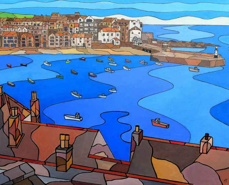 Harbour view, St Ives. -