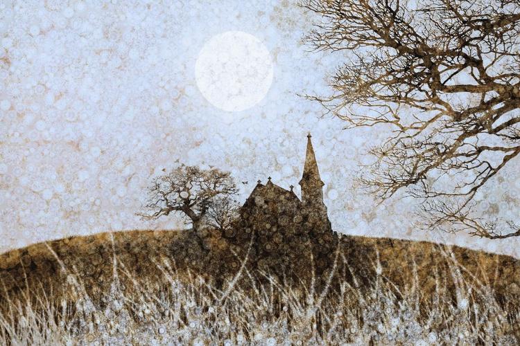 Sunlit Winter Steeple (Ltd Edition of only 20 Fine Art Giclee Prints from original artwork.) - Image 0