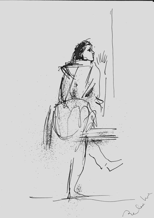 Fancy Dress, line drawing, 21x29 cm - Image 0