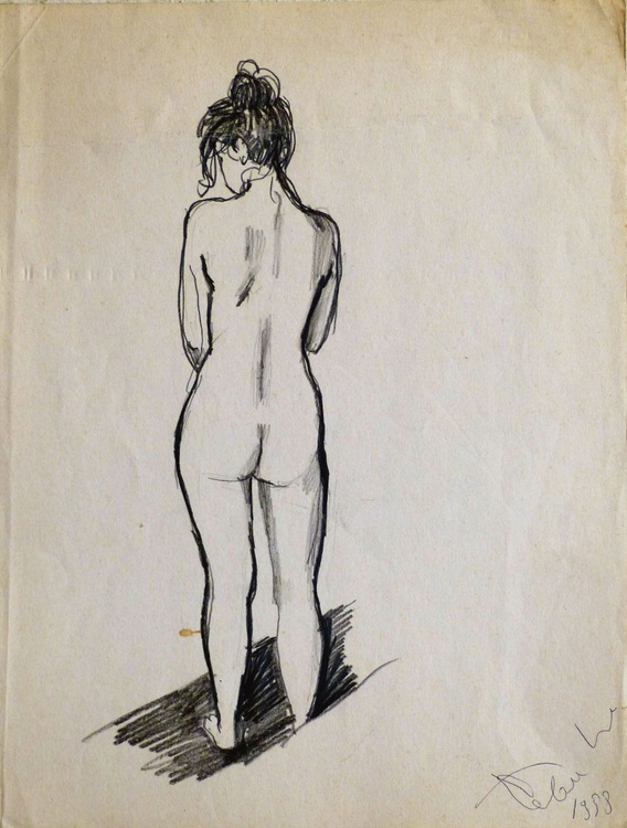 Standing Nude 3, 24x31 cm - Image 0
