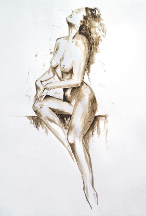 Girl in sepia 1 - Image 0
