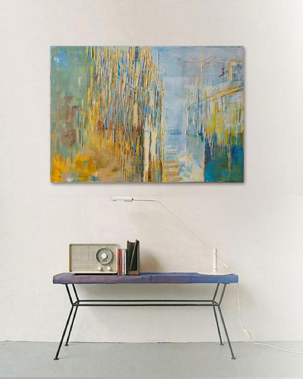 """Urban perspective XIII"" 39.37/27.5(100/70cm). Oil painting on cotton canvas. Unique impasto texture. - Image 0"