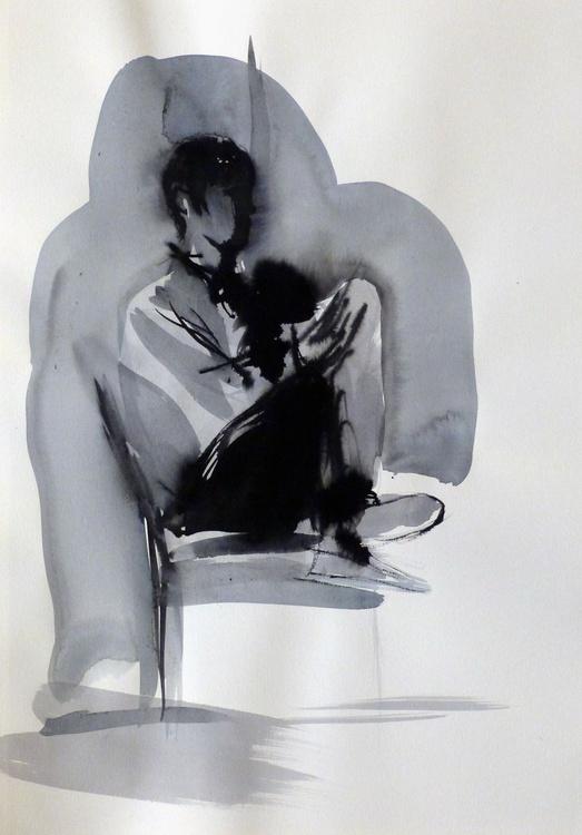 January Sketch #1, 29x42 cm - Image 0