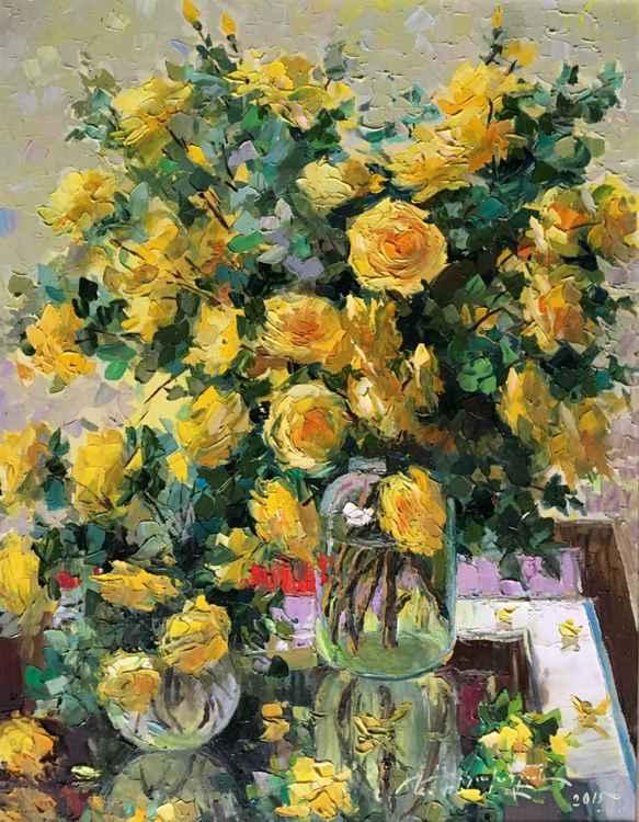 Wild Yellow Roses (60x80 cm) -