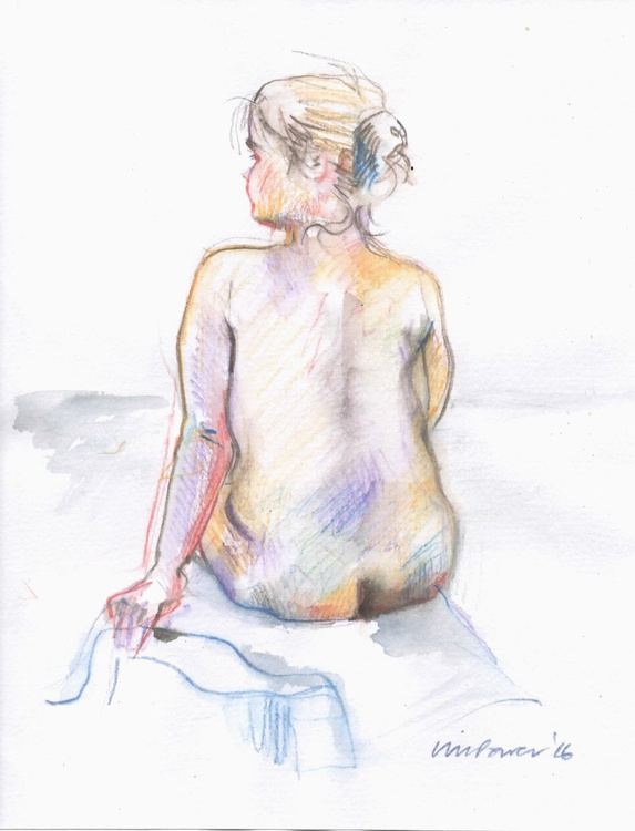 Colour & Nude - life drawing #03 - Image 0