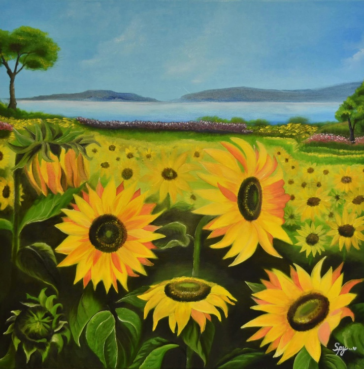 Sunflowers on a Sunny Day - Image 0