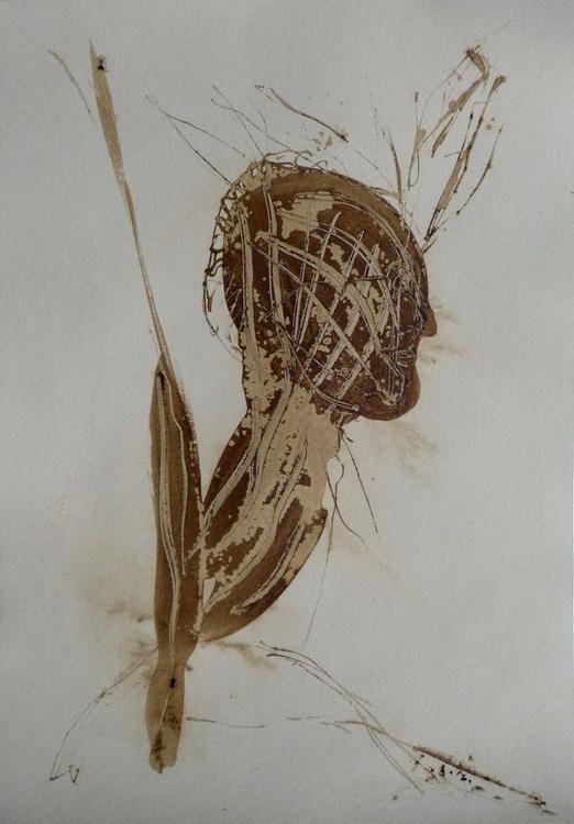 Brown Heads 2, 21x29 cm - Image 0
