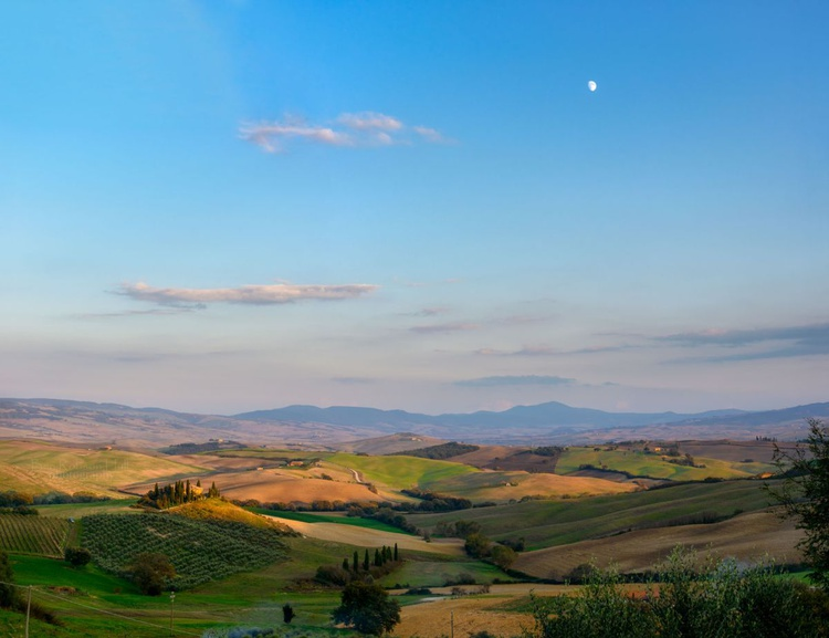 Moonrise Over Belvedere Farm, Tuscany - Limited Edition Print - Image 0