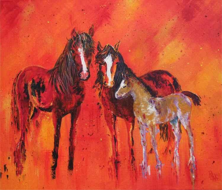 Stallion, Mare & Foal -