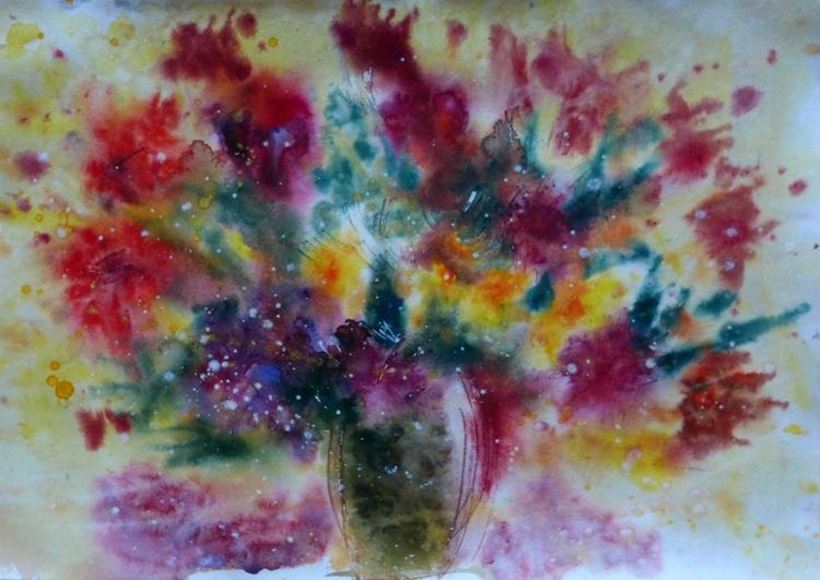 autumn flowers, 60x42 cm - Image 0