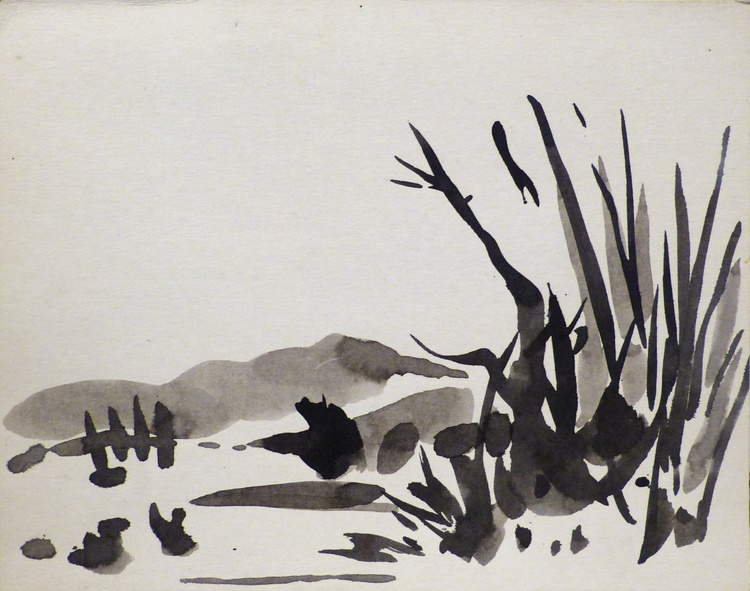 View from the Country Cottage, 30x23 cm - Image 0