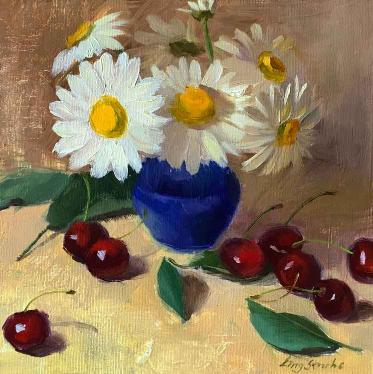 Daisies and Cherries -