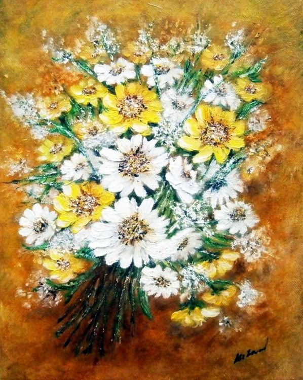 Bouquet of yellow-white flowers... - Image 0