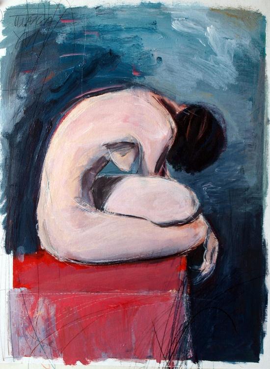 seated woman nude (study) - Image 0