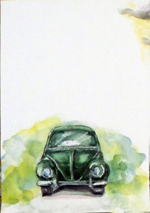 Vintage Car Green - Image 0