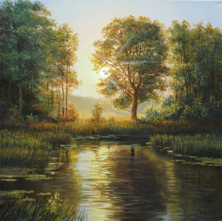 Sunset over the river - Image 0