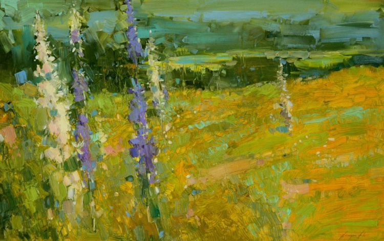 Meadow Original oil painting Large Size - Image 0