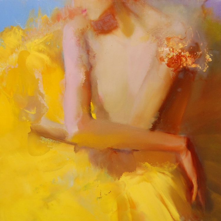"Contemporary Figurative Painting  "" Thinking of Autumn"" (134b15) - Image 0"