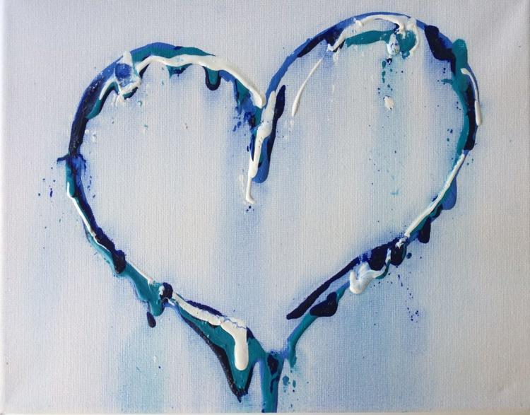 Blue oil heart study - Image 0
