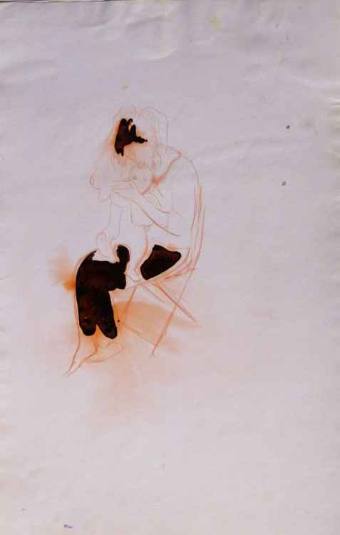 Maternity, sketch for a painting #2, 32x50 cm