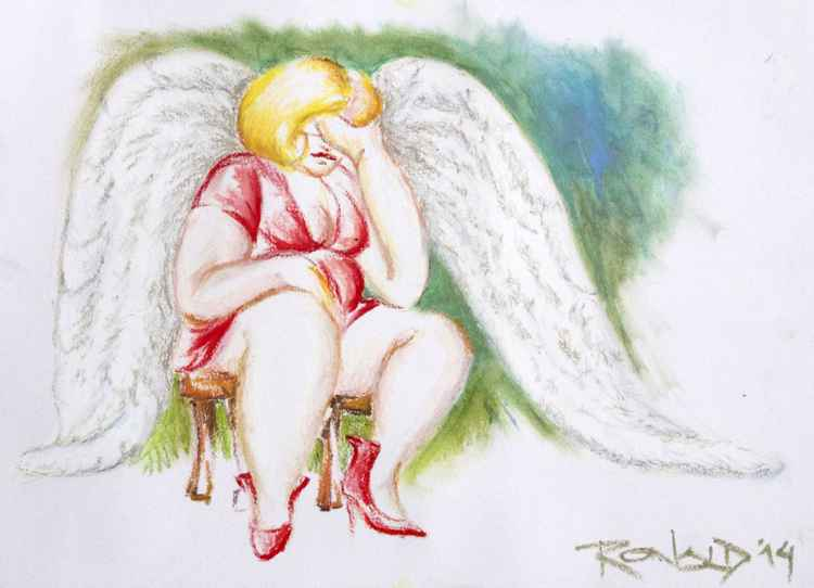 Even angels get tired -